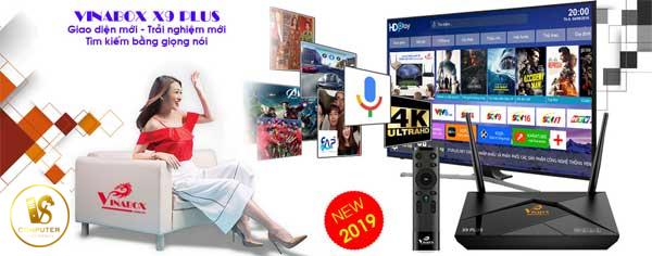 Box Vinabox X9 Plus -Hỗ trợ tìm kiếm bằng dọng nói – 4K HDR