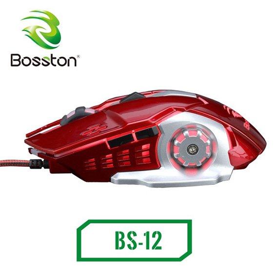 Chuột chơi game siêu khủng Bosston BS-12 led đa màu DPI 3600 – Bảo Hành Chỉnh Hãng 12T