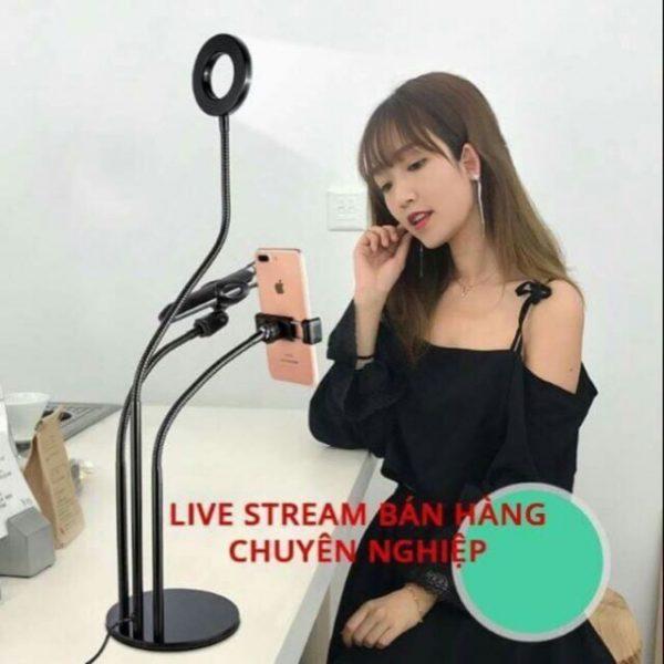 Bộ Giá đỡ Livestream có đèn Led siêu đẹp 3 in 1