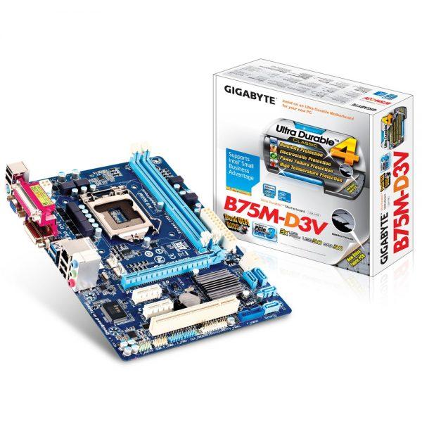 Mainboard Gigabyte B75M-DV3 , Socket 1155  Box Renew BH3T