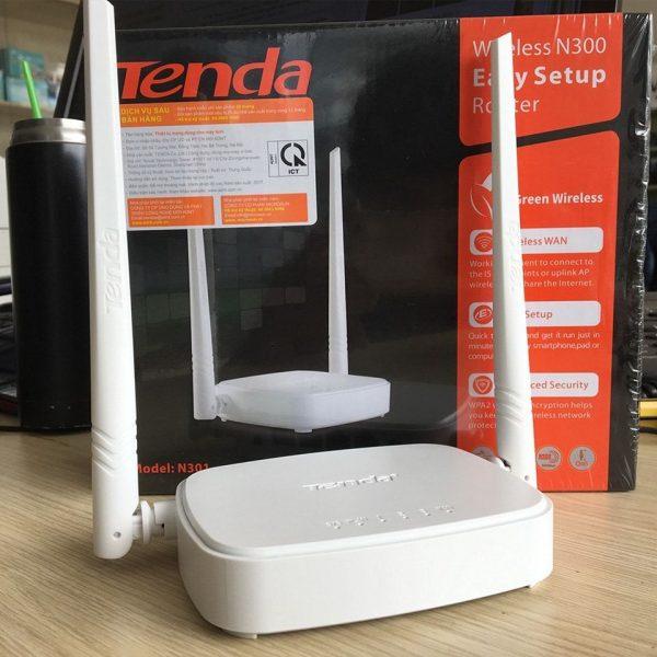 Bộ Phát Sóng Wifi Tenda N301 – Tốc độ 300MPs 2 Râu 3 cổng Lan – Hàng Chính Hãng
