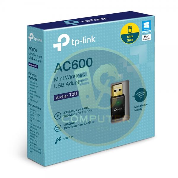 USB thu sóng Wifi TP-Link Archer T2U Băng Tần Kép AC600 (Chính hãng)