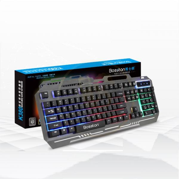 Bàn phím giả cơ chuyên game Bosston K380 Led đa màu (Đen) – Hãng phân phối chính thức
