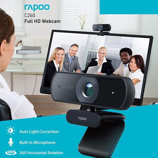 Webcam Rapoo C260 FullHD 1080p – Hàng Chính Hãng