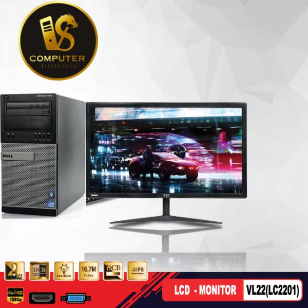 BỘ MÁY TÍNH ĐỂ BÀN DELL OPTIPLEX 9010MT I5-3470 /RAM 4GB/ SSD 128GB/ HDD 500GB VÀ MÀN HÌNH VSP 22INCH
